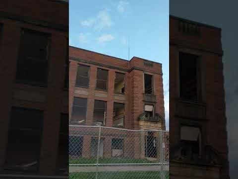 Bell Herron Middle School during demolition.