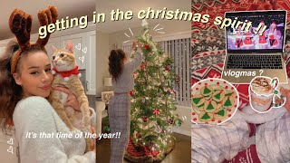 the most epic christmas vlog. || decorate with me, baking, setting up the tree, shopping, etc.