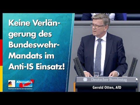 Keine Verlängerung des Bundeswehr-Mandats im Anti-IS Einsatz! - Gerold Otten - AfD-Fraktion