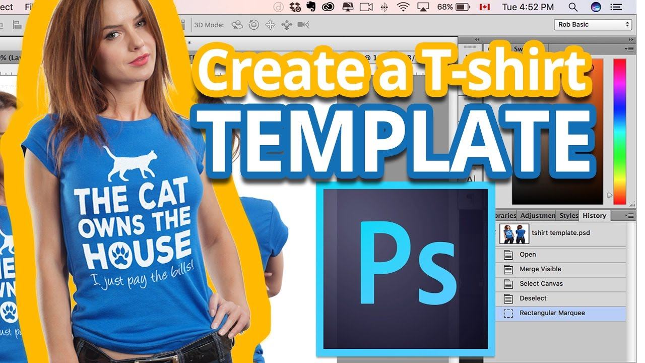 t shirt mockup how to create a t shirt template in photoshop
