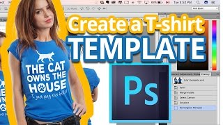 Photoshop'ta bir T-shirt Şablon Oluşturma Photoshop T-shirt Maketi - -