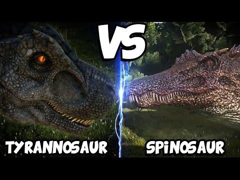 ark-dinosaur-battle-arena-|-tyrannosaurus-vs-spinosaurus