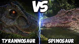 ARK Dinosaur Battle Arena | TYRANNOSAURUS VS SPINOSAURUS