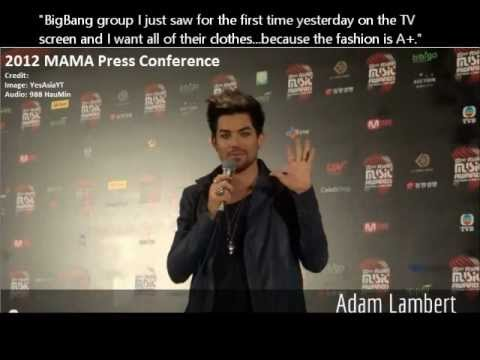 Adam Lambert talks about BigBang/G-Dragon (All interview clips in one video!)