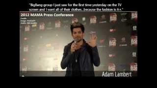 Gambar cover Adam Lambert talks about BigBang/G-Dragon (All interview clips in one video!)