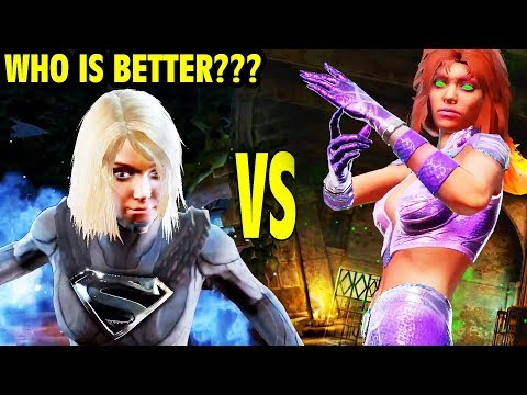 Injustice 2 Mobile LIVE. Energized Starfire and Dark Supergirl Face off. WHO IS STRONGER?
