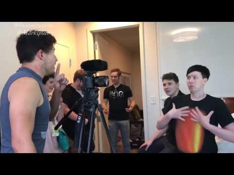 Dan and Phil in Markiplier's Vlog