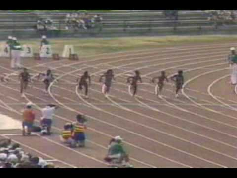 100M   Florence Griffith Joyner   10 49S