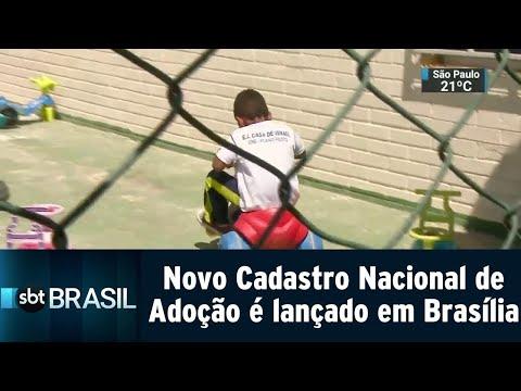 Novo Cadastro Nacional de Adoção é lançado em Brasília | SBT Brasil (20/08/18)