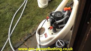 Powerflush Central Heating system Removing Rust and sludge