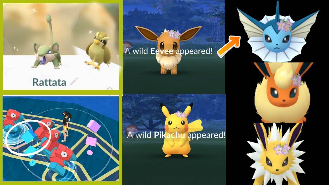 Pikachu Images: Pokemon Go Pikachu With Flower