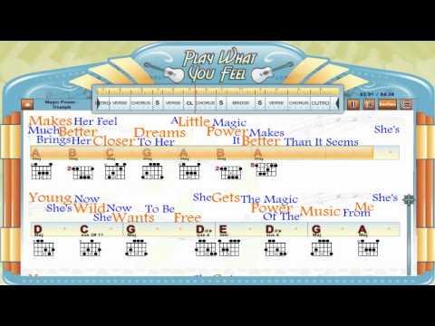 Magic Power - Triumph - Guitaraoke, Chords & Lyrics, Guitar Lesson - playwhatyoufeel