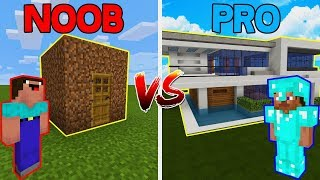 Minecraft PE NOOB vs PRO: HOUSE in Minecraft Pocket Edition