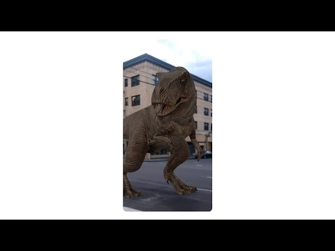 Travel back in time with AR dinosaurs in Search