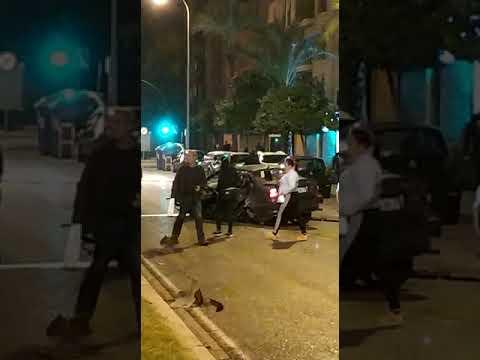 Accidente en avenida de Manolete