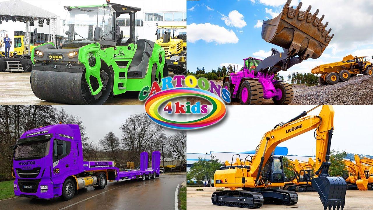 Изучаем строительный транспорт и спецтехнику для детей. Обучающее видео для самых маленьких 2