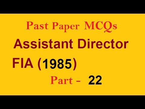 Solved Question Assistant Director FIA   NTS PPSC FPSC CSS PMS and ALL EXAMS