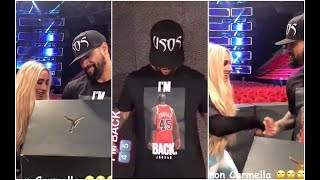 Carmella steals Jimmy Uso's sneakers before Smackdown Live