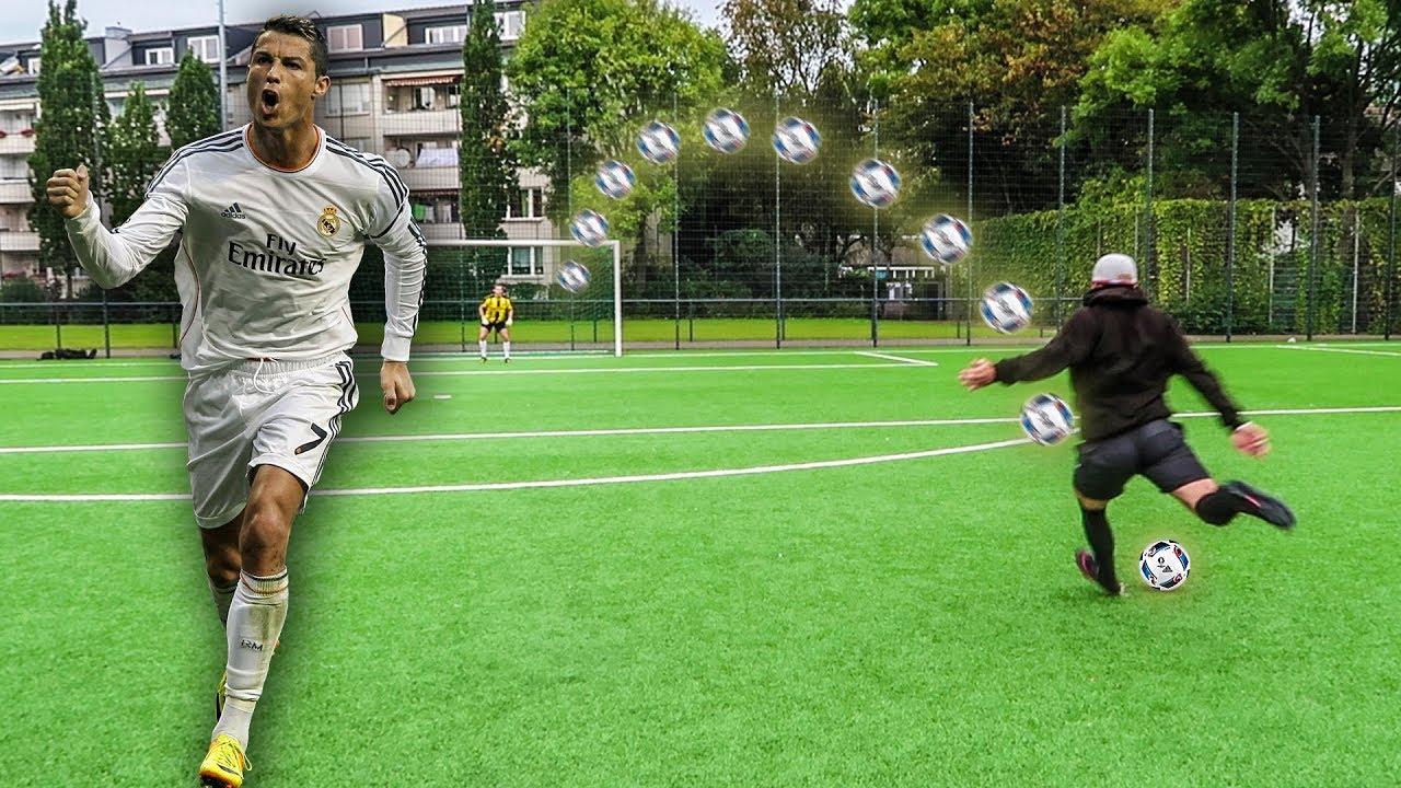 Cristiano Ronaldo Fußball Challenge Bestrafung