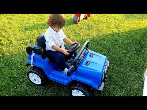 Fatih Selim'in Yeni Akülü Arabası Mavi Jeep Radyosu Bile Var.Koli'den çıkarıp Arabayı Kuruyoruz.