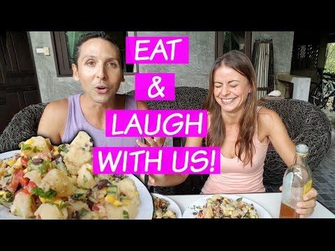 Mukbang + Potato Salad Recipe | Drunk Vegans, Minimalism + More!
