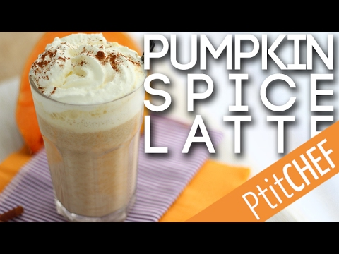 recette de pumpkin spice latte caf latt au potiron et pices youtube. Black Bedroom Furniture Sets. Home Design Ideas