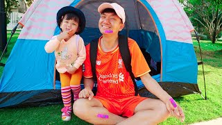 Nora and Daddy Go For Camping Adventure Story