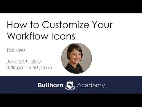 How to Customize Your Workflow Icons - June 27, 2017