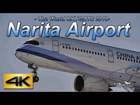 【4K】Strong crosswind and go arounds SPOTTING 2018  @ NARITA AIRPORT JAPAN