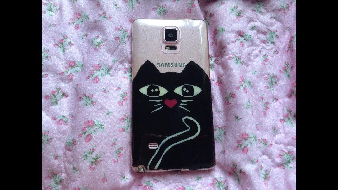 Diy Kedi Telefon Kabı Boyama Oje Ile Youtube