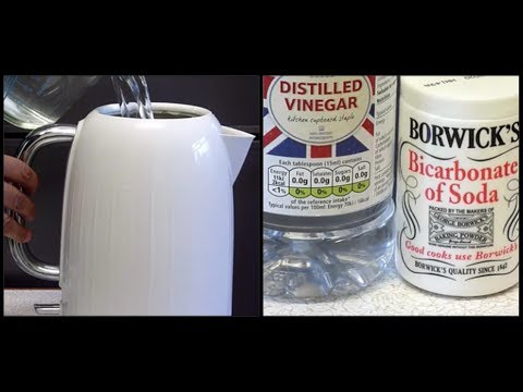 HOW TO DESCALE A KETTLE WITH BICARBONATE OF SODA