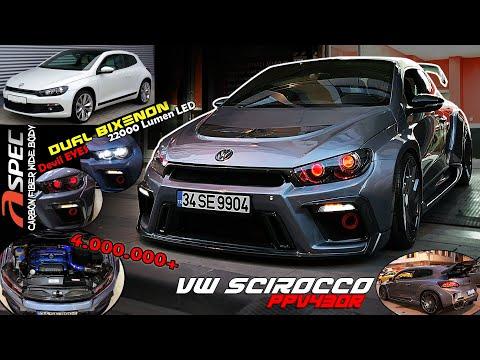 VW Scirocco REBUILD - A Spec PPV430R Wide Body // Dual BiXenon Devil Eyes - Custom