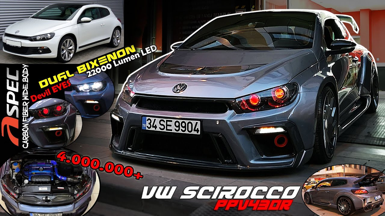 vw scirocco wide body kit ift mercekli farlar. Black Bedroom Furniture Sets. Home Design Ideas