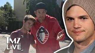 Ashton Kutcher Hits Guy On Scooter! | TMZ Live