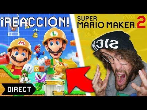 😱 Mi REACCION a Super MARIO MAKER 2 😱 DIRECT para Nintendo SWITCH