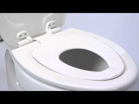 bemis toilet seat with child seat. Bemis NextStep  Built In Potty Seat Toilet YouTube