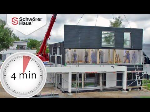 Top Zeitraffer Fertighaus von SchwörerHaus - SCHÖNER WOHNEN Hausbau ZU12
