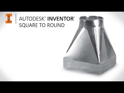 How to create square to round sheet metal | Autodesk Inventor