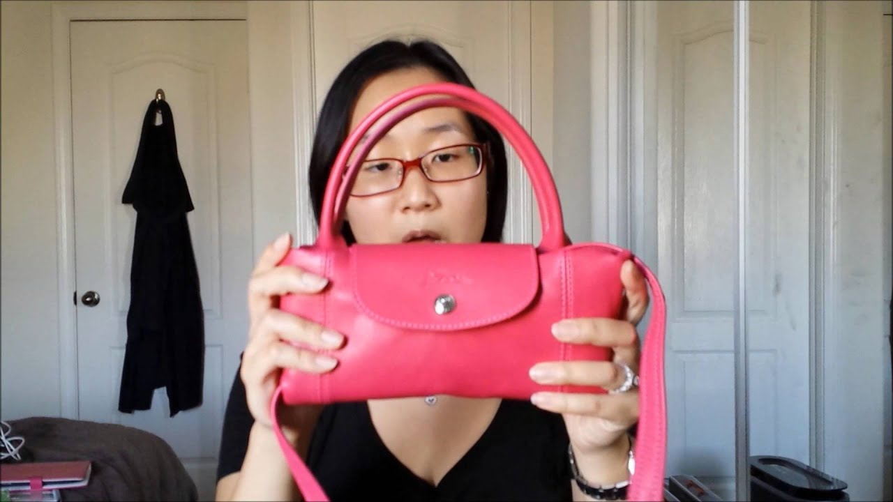 4049b59f111a Longchamp Le Pliage Cuir Haul Unboxing - YouTube