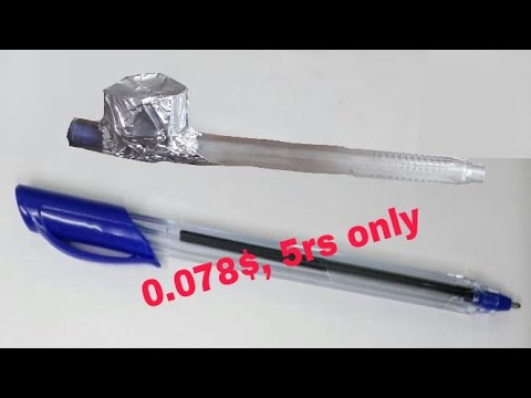 How to make a pen hookah using 5rs pen