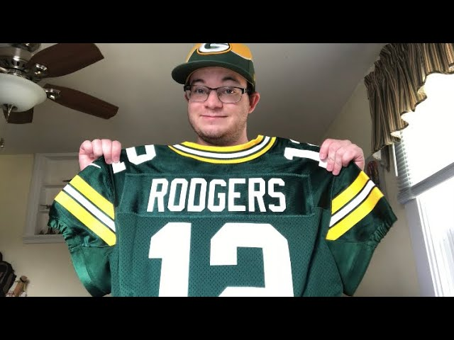 OFFICIAL Aaron Rodgers NFL Elite Jersey Unboxing - YouTube