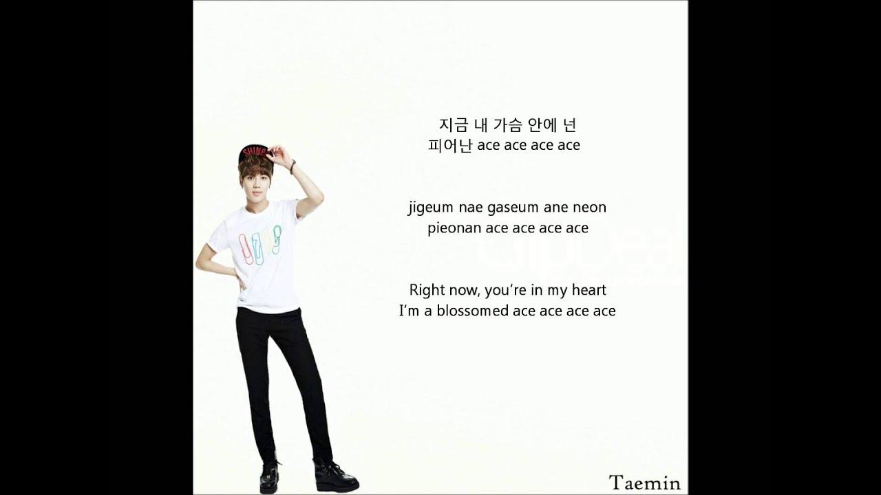 Taemin (태민) - Ace - Lyrics (Eng|Rom|Han)
