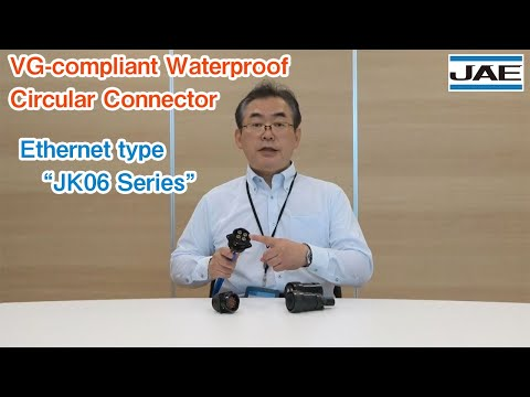 Ethernet Type JK06 Series (VG-compliant Waterproof Circular Connector)