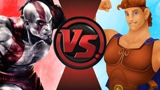 vuclip KRATOS vs DISNEY HERCULES! Cartoon Fight Club Episode 91