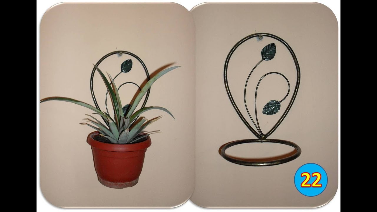 wall hanging plant pot holders  Making a wall mounted plant holder - YouTube