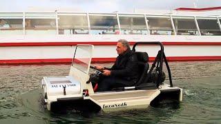 Lazareth Amphibie - Une voiture comme annexe de bateau - Tender boat amphibious