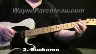 Buckaroo Don Rich Buck Owens Guitar Lesson + Backing Track
