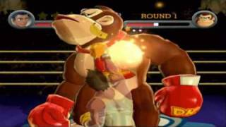 Punch-out!! Wii Little Mac Vs. Donkey Kong (ko Round 3)