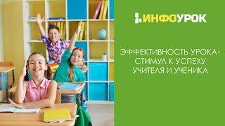 Эффективность урока – стимул к успеху учителя и ученика | Видеолекции | Инфоурок