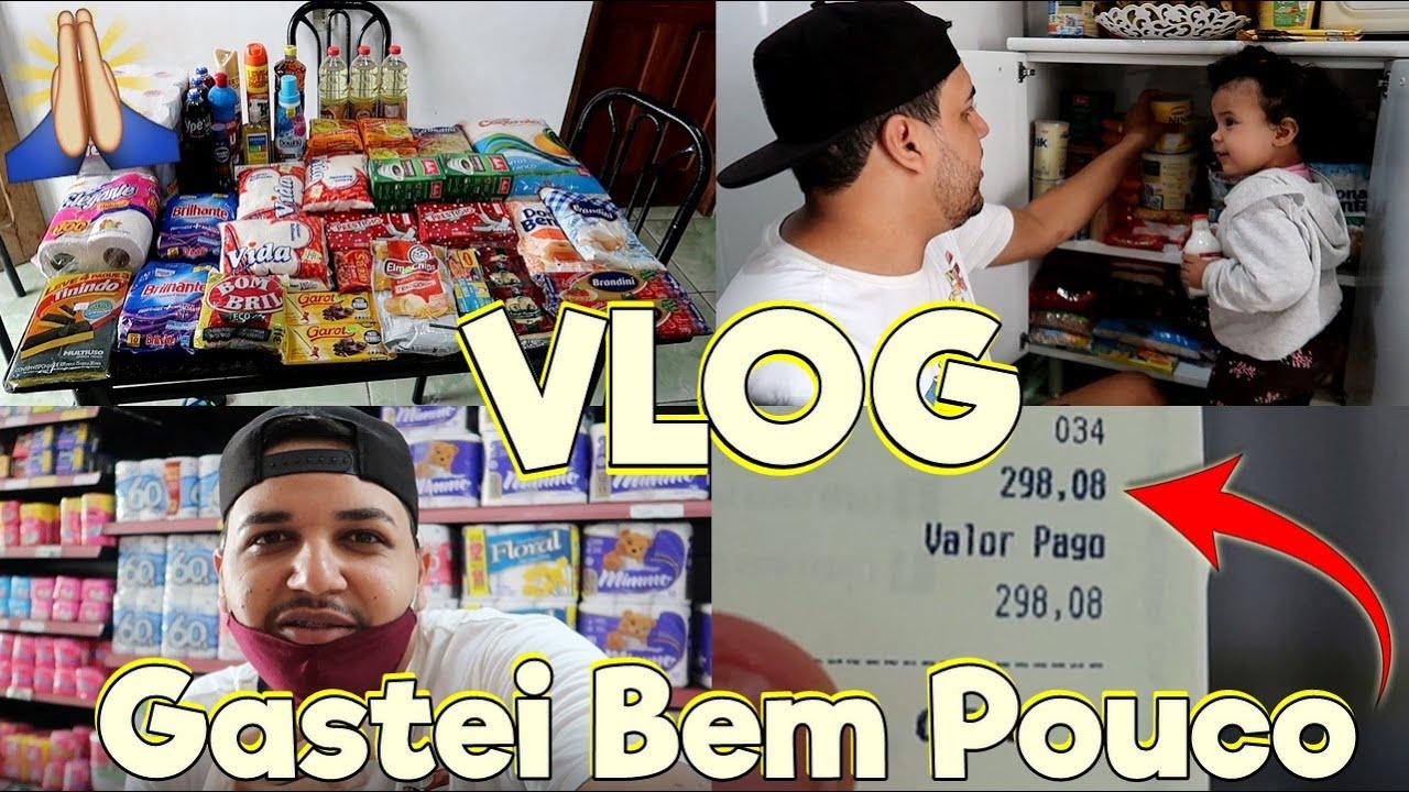 COMPRA DO MÊS COM MENOS DE R$300 REAIS😮 - NUNCA GASTEI TÃO POUCO!!